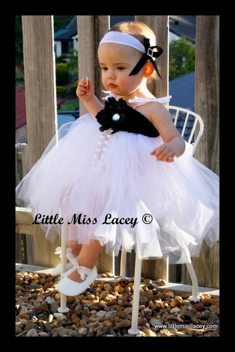002 Flower girl tutu dress-flower girl tutu dress, christening, tutu dress, little miss lacey tutu dress, tutu dress, white tutu dress, black and white tutu dress